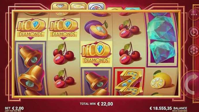 Play Deco Diamonds Slots Online.Deco Diamonds is a 5 reel slot with 3 rows and 9 pay lines that will bring you back to the past when the times were simpler.Its classic design with a bit rounded reels will remind you of old-school slots especially with all the traditional symbols such as fruits and lucky sevens.Sivas