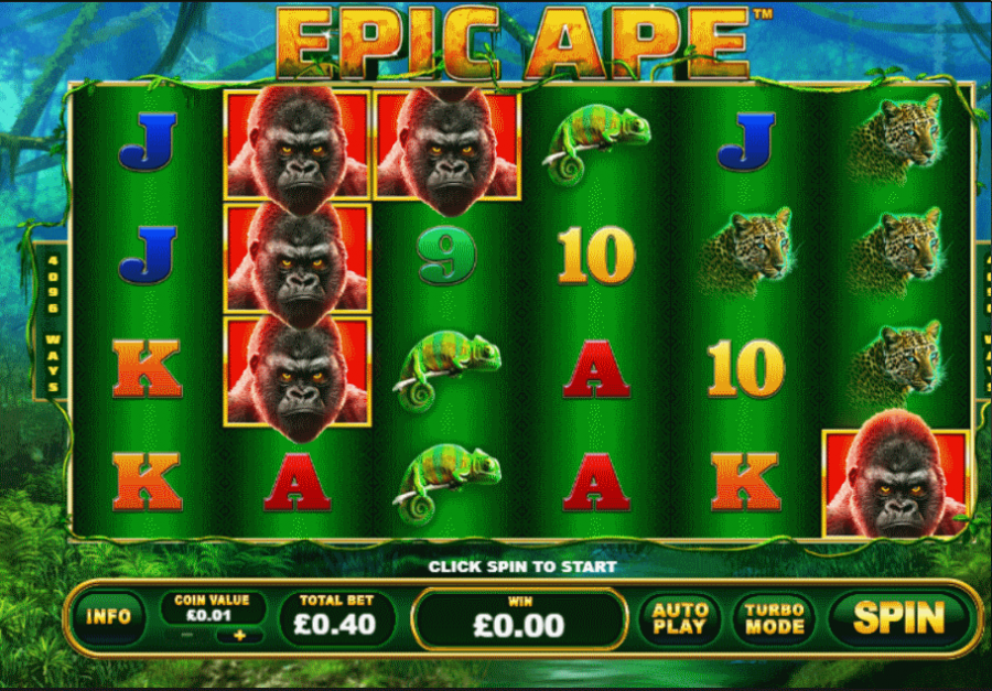 Epic Ape Slot > Play for Free > Review & Real Money Bonus