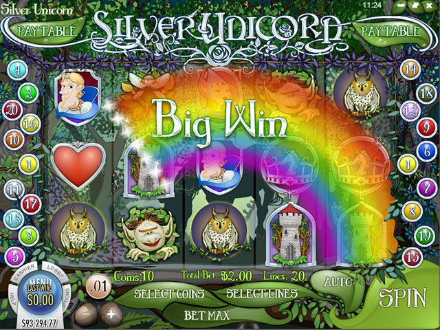 Silver Unicorn Slot > Play for Free > Review & Real Money Bonus