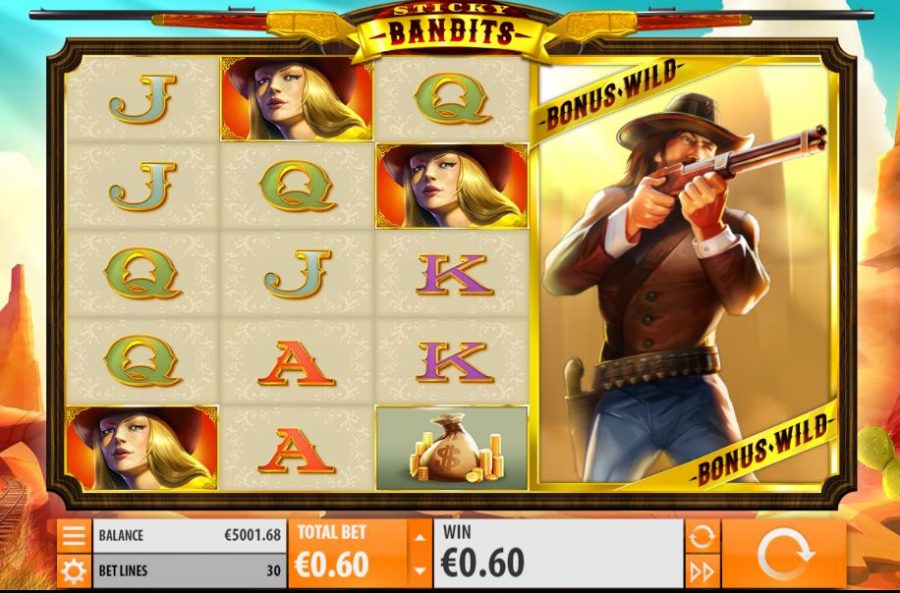 Sticky Bandits Slot > Play for Free > Review & Real Money Bonus