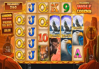 Wolf Legend Megaways Slot > Free Play Slot Game > Real Money