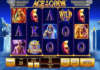 Age of the Gods Slots RTP